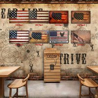 USA Flagge Zinn Zeichen Metall Vintage Poster Alte Wand Metall Plaque Club Wand Startseite Kunst Metall Malerei Wanddekor Kunstbild Party Decor HHD7065