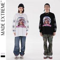 Madextreme Street 2021 Spring Summer Metal Pilot Hip Hop Fashion Hombres y camiseta de manga larga para mujer
