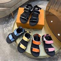2021 designer de marca mulheres sandálias sapatos casuais verão moda ao ar livre luxo senhoras sandália alta qualidade liso sapato de praia incluindo caixas e sacos tamanho35-41