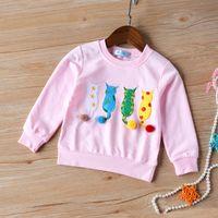 유머 곰 아기 키즈 스웨터 가을 긴 소매 티셔츠 소년 소녀 어린이 옷 만화 어린이 코트 outwear 의류 2-7Y 2105 Z2