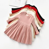 Girls Sweater Dress 2021 Autumn Winter Princess Dress Kids O...