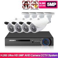 5MP Kit de Vigilância Videovigilância Câmera de Áudio Wireless NVR Sistema de Segurança 1920p ao ar livre à prova d'água