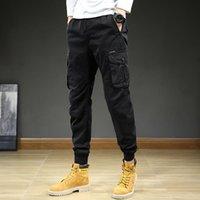 Men's Pants Streetwear Mens Cargo Youthful Vitality Pencol Trousers Cotton Casual Big Pockets Joggers Harajuku Men MID