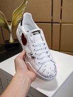 2021 Herren Ass Leder Sneaker Gestickte Schuhdesigner Designer Runner Trainer Italien Geprägte Casual Schuhe Hohe Qualität