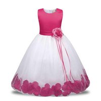 Girl's Dresses 2021 Christening Baby Flower Princess Dress For Wedding Formal Wear Girl Clothing Kids Girls Clothes Children