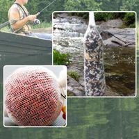 5 M PVA Çözünür Balıkçılık Net Dolum Çorap Besleyici Tuzak Yem Çanta Su Çözünür File Lure Dolum Depolama Aksesuarları Korumak