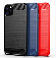 Carbon Fiber Soft Mobile Phone Cases TPU Protective Back For iPhone 13 12 11 PRO MAX XR XS Samsung Note 20 S20 PLUS S10 S10e S21 Ultra S20FE Note10 Note10P A11 A70E A03S