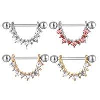 D0941-1 (3 Kleuren) Duidelijke Mensen Stijl Hart Tepel Ring Belly Button Body Piercing Sieraden Dangle Accessoires Fashion Charm (20 stks / partij)