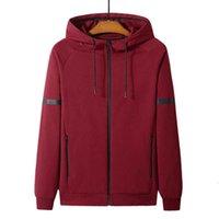 2021 Hoodies dos homens moletons americano primavera outono outono algodão camisola zíper Cardigan esportes com capuz moda jaqueta de malha l-8xl opp bolsa pacote