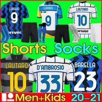 Tayland Inter milan futbol forması VIDAL LUKAKU BARELLA ERIKSEN LAUTARO 20 21 futbol forması 2020 2021 üniformaları maglia da calcio shorts socks