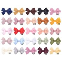 30 colors 2 inch grosgrain ribbon hair bows With Clip baby Solid Hairpin Boutique bow for Children hair accessories