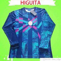 1990 Ретро вратарь вратарь с длинным рукавом старый рене HIGUITA COLOMBIA Jersey футбольная футболка в верхней части униформа Columbia Soccer Jersey старинная классическая античная коллекция