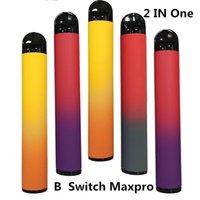 BANG Disposable Vape Pen Pro Max Switch 2 IN 1 Device 7ml Pods Double Vape Kit XXL 2*1000puffs 500mah Disposable E-cigarettes Empty
