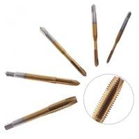 Hand Tools 5pcs Titanium Screw Thread Metric Tap Die Machine Drill 3 Flute With M3-M8 Diameter And F