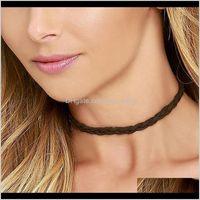تصميم عادي الأسود المخملية الشريط المختنق قلادة اليدوية مع سحر emo للنساء collares موهير CXN182 5LNWV المختنقون BC6HJ