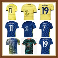 CFC Soccer Jersey Pulisic Ziyech Havertz Kante Werner Abraham Chilwell Mount Jorginho 2021 2022 جيرود كرة القدم قميص 21 22 الرجال الاطفال كيت 4th أعلى