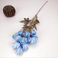 Flores artificiais tecido de seda festa de casamento casa diy decoração floral de alta qualidade grande buquê bouquet artesanato artigos de mobiliário de flor zze5337