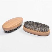 Натуральные кабаны щетины для бороды для мужчин Бамбуковый массаж лица, который работает чудес к гребенью бороды RRD6803