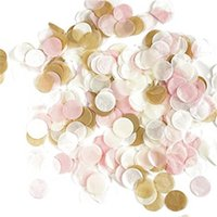 حزب الديكور Kuchang 1000 قطعة / الحقيبة 1 سنتيمتر ورقة حلويات مزيج لون لحضور زفاف عيد الأنسجة مستديرة البالونات واضحة