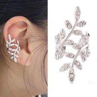 Clip-on & Screw Back Clip Leaf Etc Fashion Jewelry Earrings Simple Crystal Party Casual Wedding Ear Style Cuff Women Silver Wrap