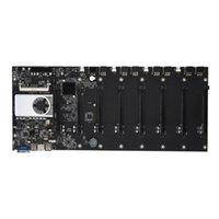 Schede madri BTC-T37 Miner scheda madre, set di 8 slot per schede video, memoria DDR3, interfaccia VGA a bordo, basso consumo energetico
