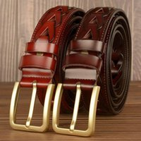 Belts Designer Mens Leisure Belt Metel Pin Buckle Waist Strap British Jeans Accessories Cut Out Breathable Leather Business Cinto
