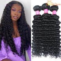 28 30 pulgadas Brasileño Brasileño Virginal Virginal Hairs Extensiones de cabello humano Brasileño Mink Brailin Virgin Hair Ola profunda Muy suave