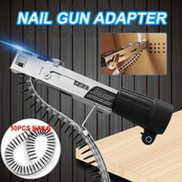 4 pcs woodwork Adaptador automático nail-gun adaptador de cadeia de broca elétrica definir taladro inalambrico fenda sem fio 210430