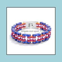 Bangle Jewelrybracelet Mens Luxury Designer Men Bracelets Stainless Steel Jewelry Bracelet Locomotive Chain Ne975 Drop Delivery 2021 Ng6Pc