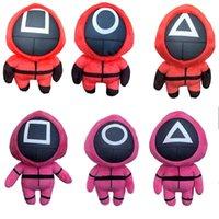 2021 Halloween gåvor Ny bläckfiskspel fylld plysch docka leksaker korea tv squids spel plushies dockor 20cm fans jul barn