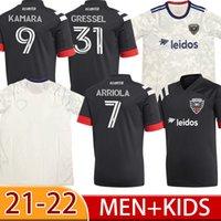 2022 Jersey de football 9 Kamara Home Away 10 Flores Fans Version 17 Santos Personnalisé 31 Gessel Adulte + Kit Kit Kit 2021 Chemise de football