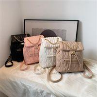 حقيبة الظهر الوردي sugao bookbag الحقائب المدرسية لطيف الفتيات pvc الكتف السفر الأزياء مصمم crossbody أعلى مقبض