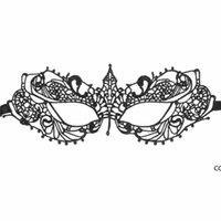 Máscaras de la máscara de ojos de encaje sexy de las mujeres negras para la masquerade Halloween disfraces venecianos con máscara de carnaval para Anonymous DHB8860