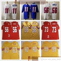 NCAA Vintage 75th Retro College Football 11 Drew Bladsoe Jersey Andre Tippett John Hannah Mike Alstott Hardy Nickerson Roy Selmon Warren Sapp Trikots