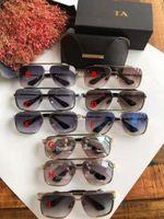 En Kaliteli Güneş Gözlüğü Mach Altı Erkekler Için İtalya Tasarımcısı Dikdörtgen Sunglass Metal Çerçeve 100% Anti-UV Lens Unisex Stil Yaz Gözlük
