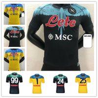 플레이어 버전 2021 2022 Napoli 축구 유니폼 홈 멀리 네 번째 나폴리 축구 셔츠 골키퍼 21 22 Meret Manolas insigne lozano callejón milik mens # 10 maradona