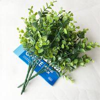 Dekorativa blommor konstgjorda boxwood stammar grönska stam växter UV resistent falska växt bondgård hem trädgård bröllop pati 401 s2