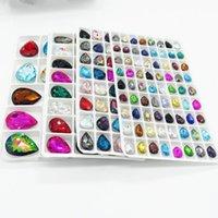 Altri colori misti a goccia in cristallo goccia cristallo strass perline allentati 7x10mm 10x14mm 13x18mm 18x25mm
