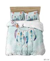 Bedding Sets Fashion Dream Catcher Set Large Size Down Quilt Cover Pillowcase Girl Bedroom Decoration Digital Print