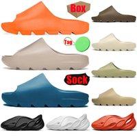 yeezy slides kanye west foam runner Мужские женские сандалии, скользящие сандалии Enflame Orange Desert Sand Resin Bone, мужские женские тапочки, кроссовки