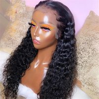 Brazilian Deep Wave Frontal Wig 4x4 Closure Wet And Wavy Curly Lace Front Human Hair Wigs V Part
