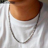 Moorvan 55 cm 3mm Männer Halskette Mode Rock Edelstahl Geometrie Ketten Mann Schmuck Cool Geschenk VN065