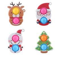 Cartoon Boże Narodzenie Party Sensory Pianka Fidget Zabawki Proste Mocple Ciśnienie Odporne Ręcznie Ściśnięcie Prezent Dla Dzieci