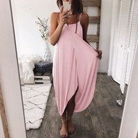 Women Beach Dresses Summer Sleeveless Spaghetti Strap Sexy Knitted Loose Irregular Solid Color Plus Size Women Clothing For Long Dresses