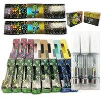 Glo Vape Cartridges Ceramic Tips Carts extracts Atomizer 0.8ml 1ml 510 Thread Thick Oil Atomizers Empty Vape Pen Cartridge Hologram Flowers Packaging Vaporizer