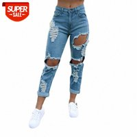 [in stock]European and American women's self-cultivation straight casual ripped jeans burnt personality street flared pencil pants in #MT84