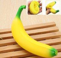 Squishy Banana 18cm Giallo Squishy Super Squeeze Lento Rising Kawaii Squishies Simulazione Fruit Bread Bambino giocattolo giocattolo Decompressione
