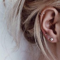 Stud Good Quality Korean Style Women Earrings For Small Stainless Steel Set Earings Fashion Jewelry