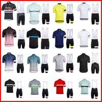 Rapa equipe ciclismo mangas curtas jersey bib shorts conjuntos de bicicleta verão respirável desgaste vestuário ropa ciclismo 3d gel pad 32350