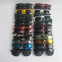 Солнцезащитные очки дизайнера бренда для мужчин женщина мода квадратные солнцезащитные очки отражающие покрытие очки 26 цвет